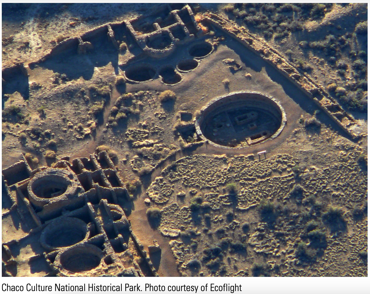 Aerial View of Chaco Culture National Historic Park and World Heritage Site